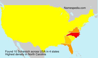Surname Scharsich in USA