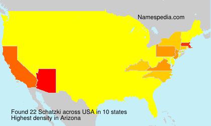 Familiennamen Schatzki - USA