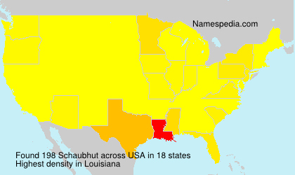 Surname Schaubhut in USA