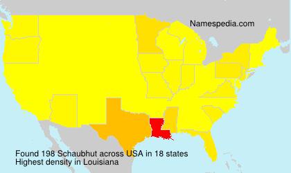 Surname Schaubhut in USA