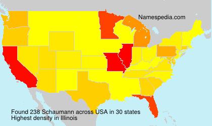 Surname Schaumann in USA