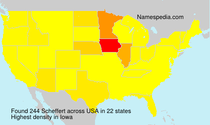 Familiennamen Scheffert - USA