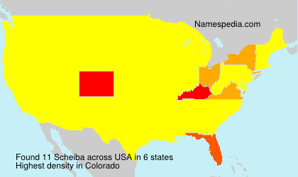 Surname Scheiba in USA