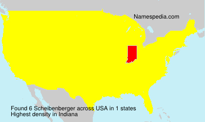 Surname Scheibenberger in USA