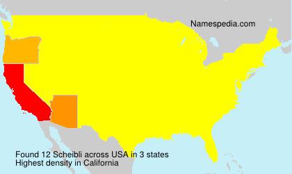 Familiennamen Scheibli - USA
