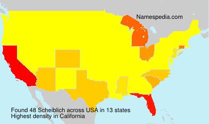 Surname Scheiblich in USA