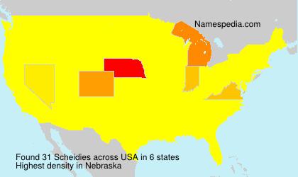 Surname Scheidies in USA
