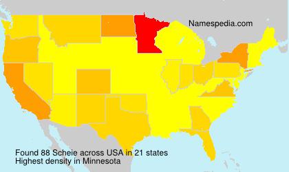 Familiennamen Scheie - USA