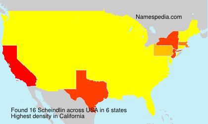 Surname Scheindlin in USA