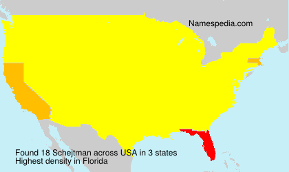 Familiennamen Schejtman - USA