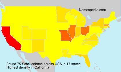 Surname Schellenbach in USA