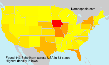 Surname Schellhorn in USA