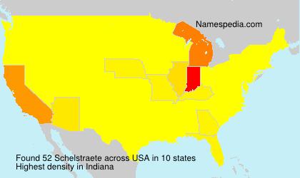 Familiennamen Schelstraete - USA