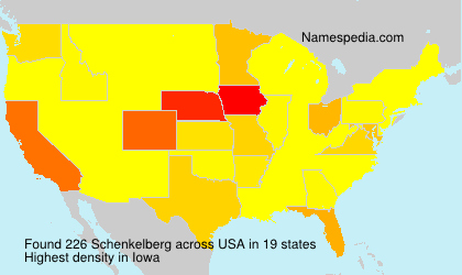 Surname Schenkelberg in USA