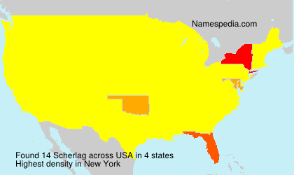 Surname Scherlag in USA