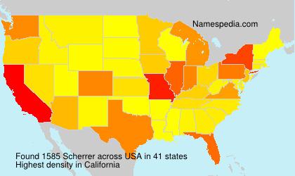 Surname Scherrer in USA