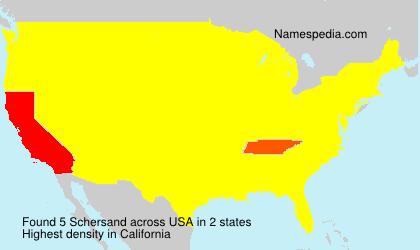 Familiennamen Schersand - USA