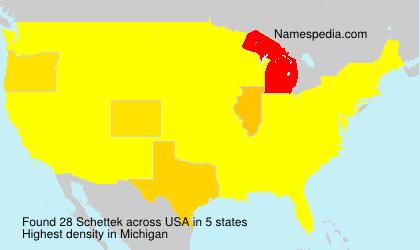 Surname Schettek in USA