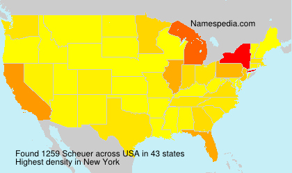 Surname Scheuer in USA