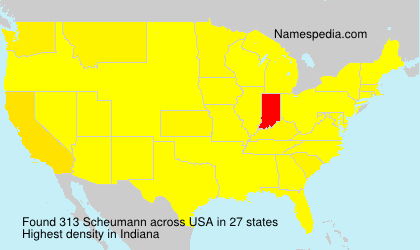 Surname Scheumann in USA