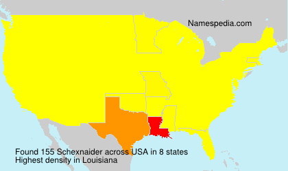 Surname Schexnaider in USA
