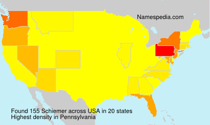 Surname Schiemer in USA