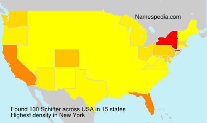 Surname Schifter in USA