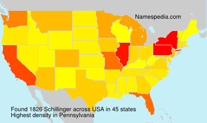 Surname Schillinger in USA