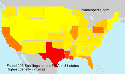 Surname Schillings in USA