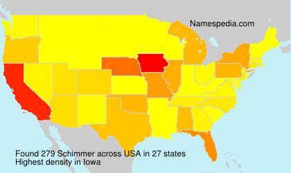 Surname Schimmer in USA