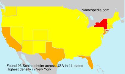 Surname Schindelheim in USA