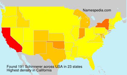 Surname Schinnerer in USA