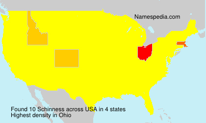 Surname Schinness in USA