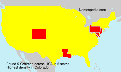 Surname Schirach in USA