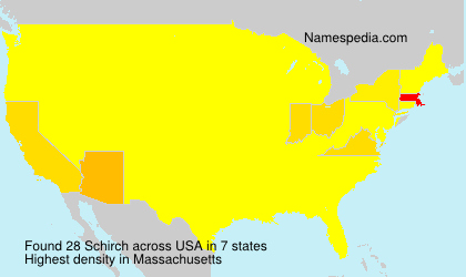 Surname Schirch in USA
