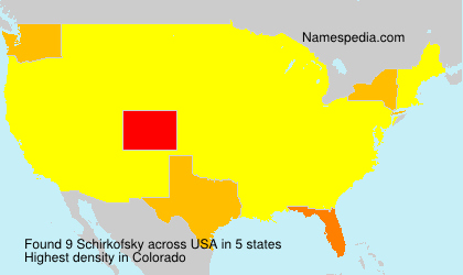 Surname Schirkofsky in USA