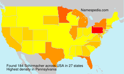 Surname Schirmacher in USA