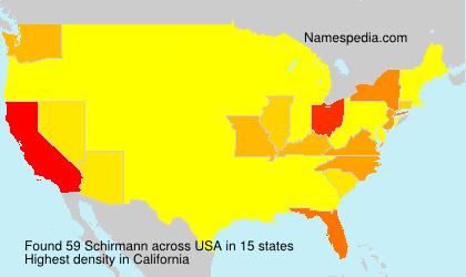 Surname Schirmann in USA