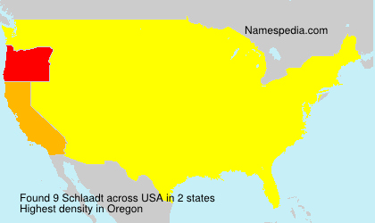 Surname Schlaadt in USA