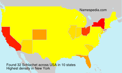 Surname Schlachet in USA
