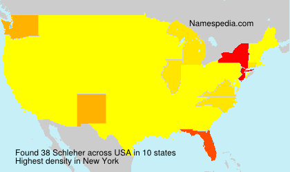 Surname Schleher in USA