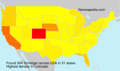 Surname Schleiger in USA