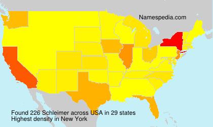 Surname Schleimer in USA