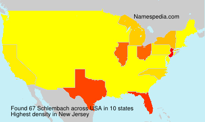 Surname Schlembach in USA