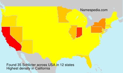 Surname Schlicter in USA