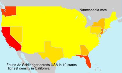 Familiennamen Schlienger - USA