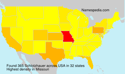 Familiennamen Schlotzhauer - USA