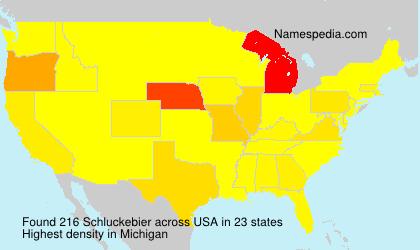 Surname Schluckebier in USA