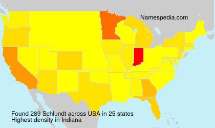 Familiennamen Schlundt - USA