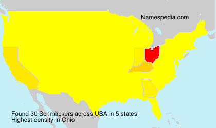 Surname Schmackers in USA